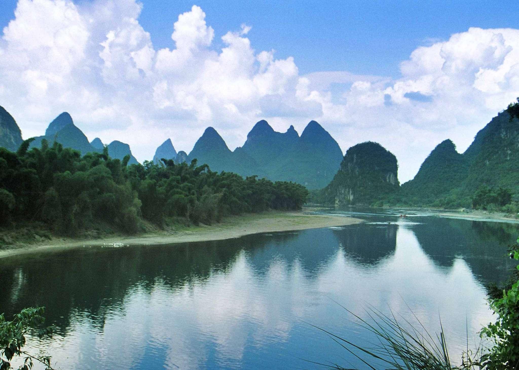 桂林,阳朔,漓江风光,醉美尧山,訾洲·象鼻山,玉屏新霁